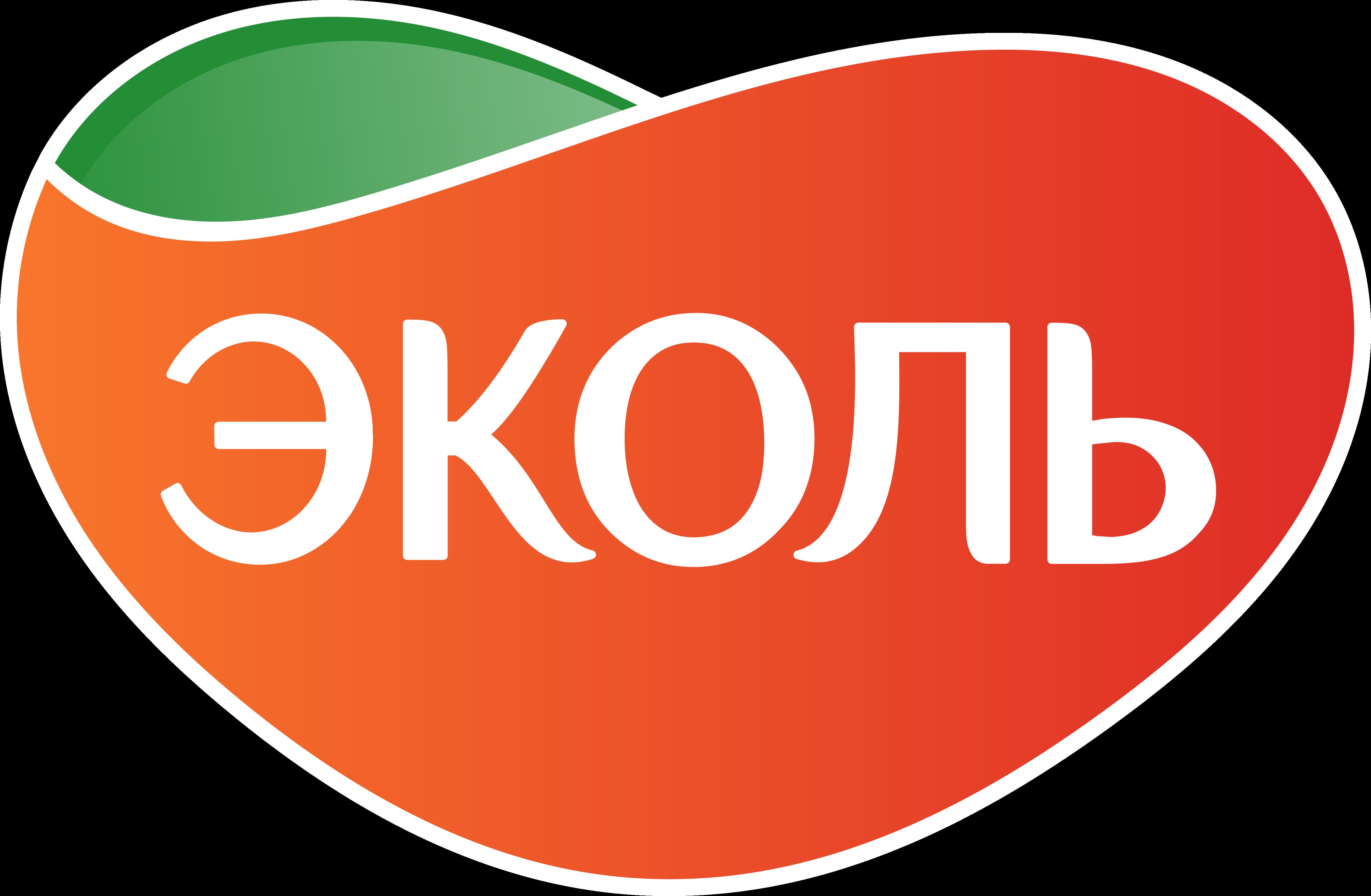 Лого с белой обводкой EKOL EKOLMARKET ЭКОЛЬ